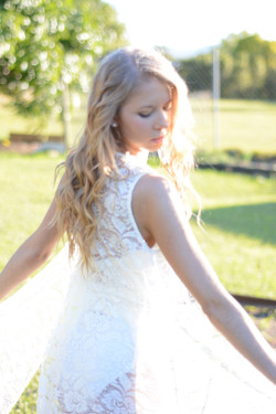 Bridal, beach waves, sunlight, glow