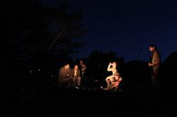 Campfire before battle