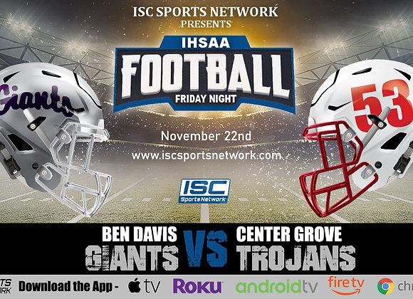 11/22/19 Ben Davis vs Center Grove - IHSAA Football