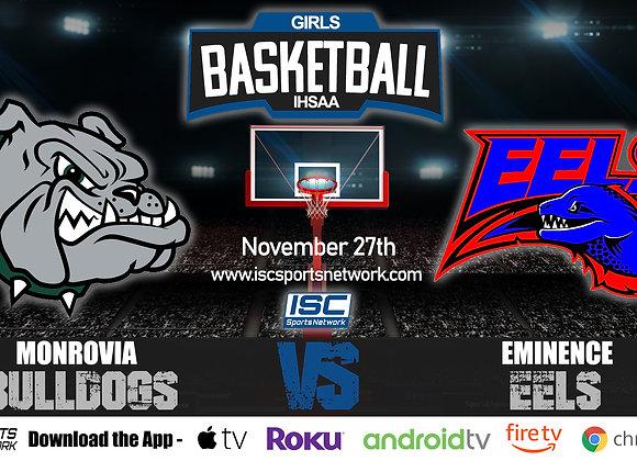 11/27/19 Monrovia vs Eminence - IHSAA Girls Basketball