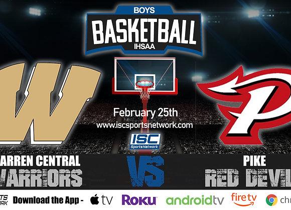 2/25/2020 Warren Central vs Pike - IHSAA Boys Basketball