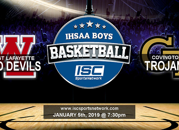 1/5/19 - West Lafayette vs Covington - IHSAA BBB