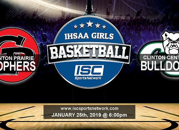 1/25/19 - Clinton Prairie vs Clinton Central - IHSAA Girls Basketball