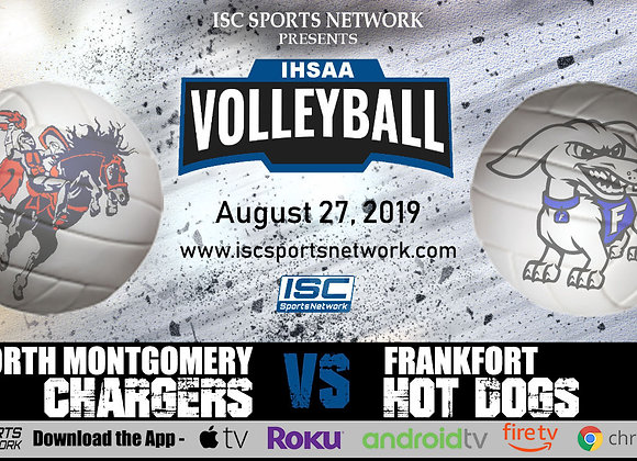 8/27/19 - North Montgomery at Frankfort - IHSAA Volleyball