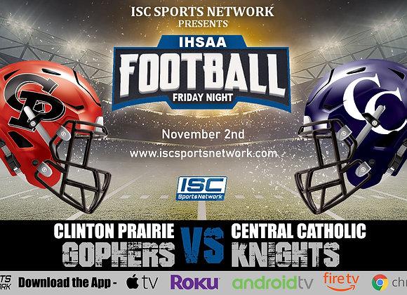11/2/19 Clinton Prairie at Central Catholic - IHSAA Football