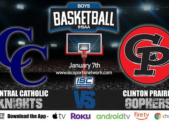 1/7/20 Central Catholic at Clinton Prairie - IHSAA Boys Basketball