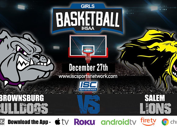 12/27/19 Brownsburg vs Salem - IHSAA Girls Basketball