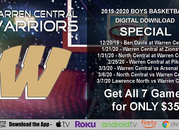 2019-20 Warren Central Warriors Boys BBall (Digital Downloads)