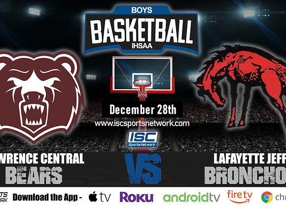 12/28/19 Lawrence Central vs Lafayette Jeff - IHSAA Boys Basketball