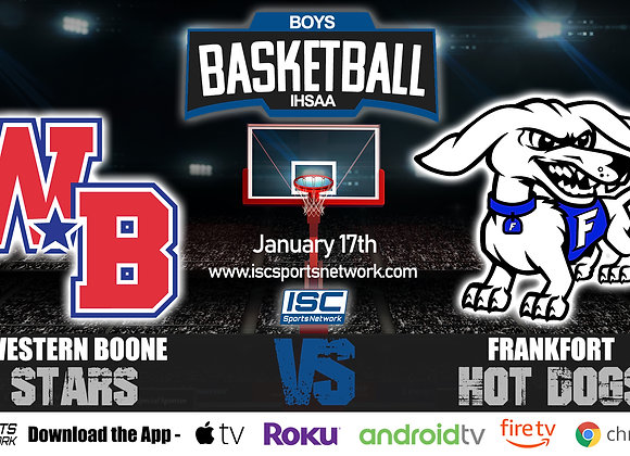 1/17/20 Western Boone vs Frankfort – IHSAA Boys Basketball