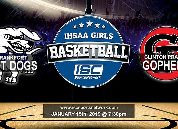 1/15/19 Frankfort at Clinton Prairie - IHSAA Girls Basketball