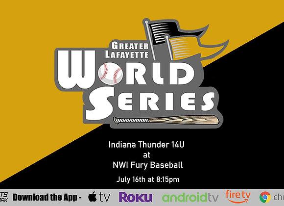 7/16/2020 Indiana Thunder vs NWI Fury Baseball - Game P10 (14U)