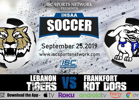 9/25/19 Lebanon vs Frankfort - IHSAA Girls Soccer