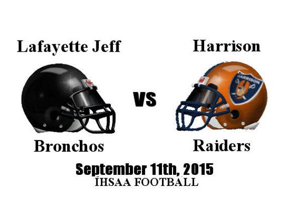 9/11/2015 Lafayette Jeff at Harrison - IHSAA Football