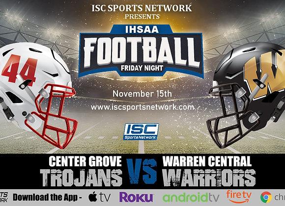 11/15/19 Center Grove vs Warren Central - IHSAA Football