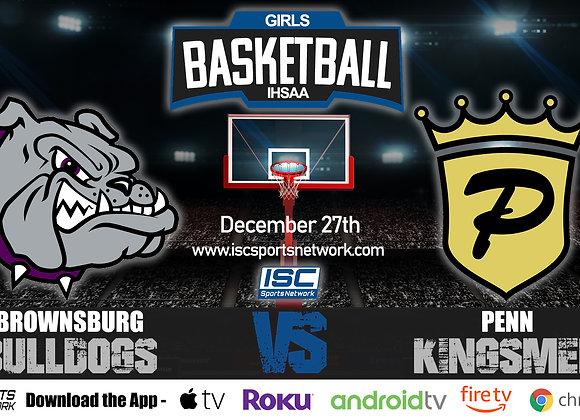12/27/19 Brownsburg vs Penn - IHSAA Girls Basketball