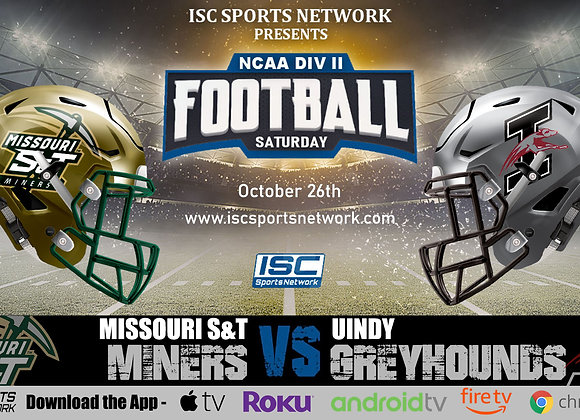 10/26/19 Missouri S&T vs UIndy - NCAA DII College Football