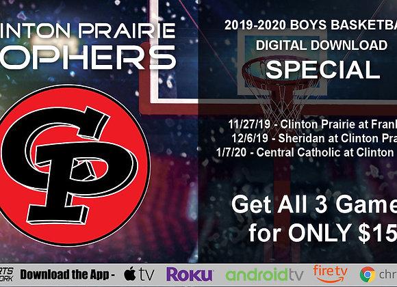2019-20 Clinton Prairie Gophers Boys BBall (Digital Downloads)