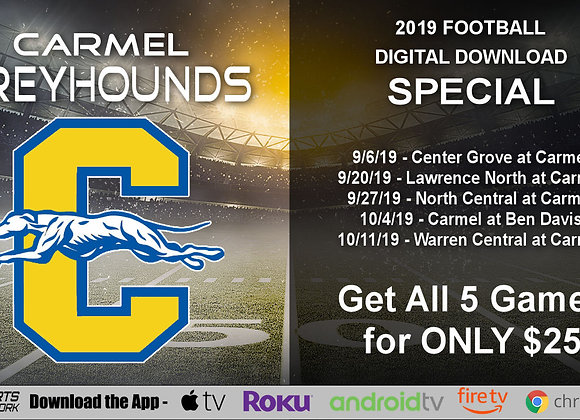 Carmel Greyhounds - 2019 IHSAA Football (Digital Downloads)