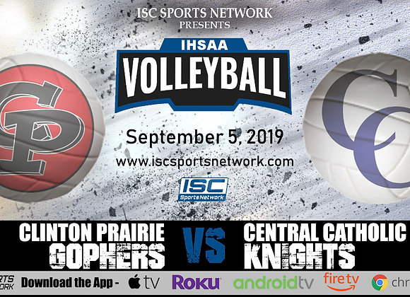 9/5/2019 Clinton Prairie at Central Catholic - IHSAA Volleyball