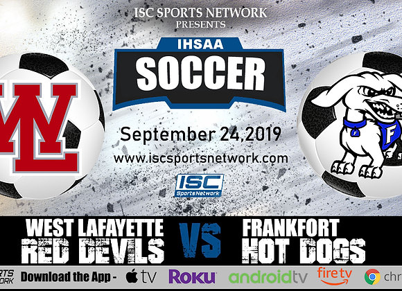 9/24/19 West Lafayette vs Frankfort - IHSAA Boys Soccer