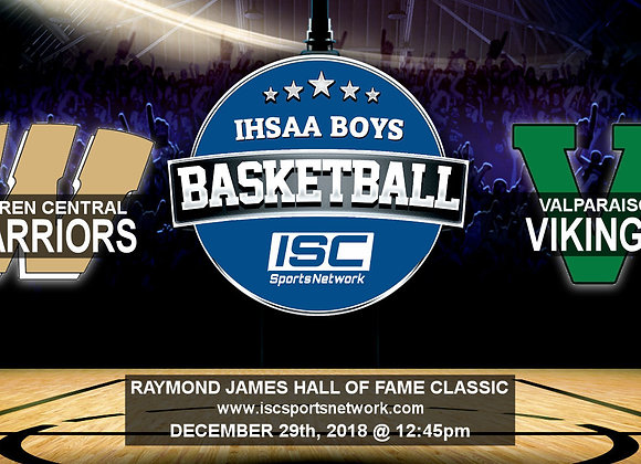 12/29/18 - Warren Central vs Valparaiso - HOF Classic BBB