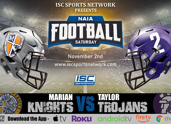 11/2/19 Marian vs Taylor - NAIA College Football