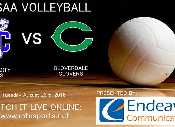 8/23/16 Clay City vs Cloverdale - VB