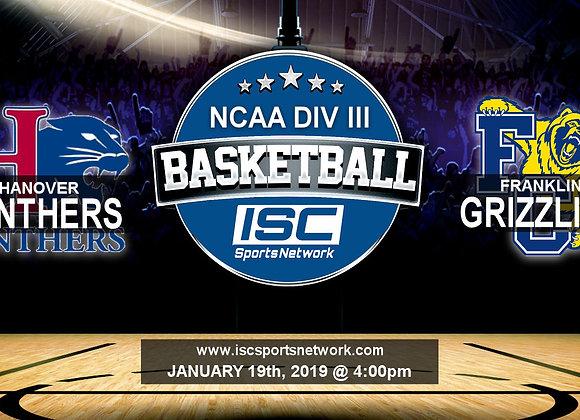 1/19/19 Hanover at Franklin - NCAA Div III Mens Basketball