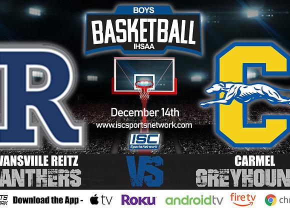 12/14/20 Evansville Reitz vs Carmel - IHSAA Boys Basketball