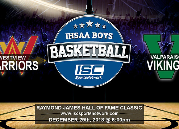 12/29/18 - Westview vs Valparaiso - HOF Classic BBB