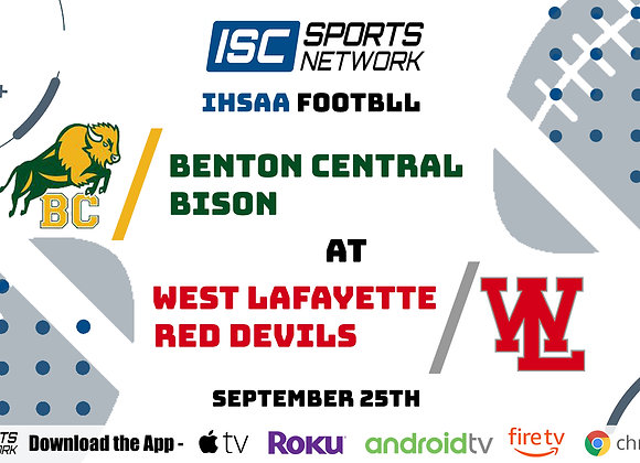 9/25/2020 Benton Central at West Lafayette - IHSAA FB