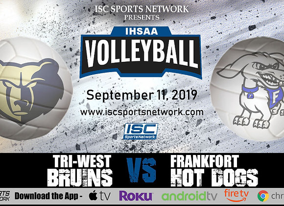 9/11/19 Tri-West at Frankfort - IHSAA Volleyball