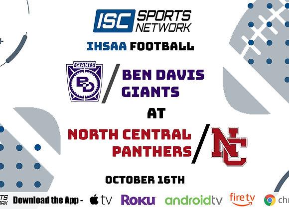 10/16/20 Ben Davis at North Central - IHSAA FB
