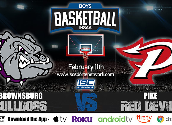 2/11/2020 Brownsburg vs Pike - IHSAA Boys Basketball