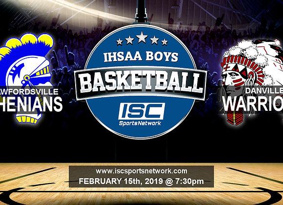 2/15/19 Crawfordsville vs Danville - IHSAA Boys Basketball