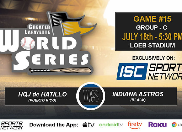 GM15 - Puerto Rico vs Indiana Astros (Black) - 2019 GLWS