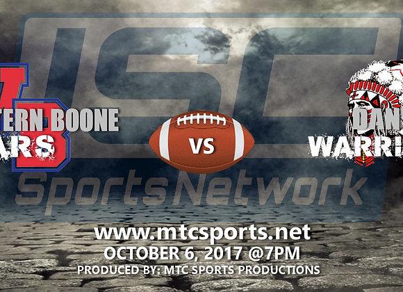 10/6/17 Western Boone vs Danville - FB