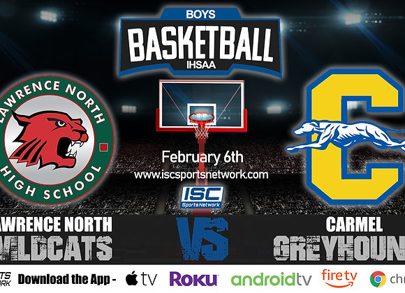2/6/2020 Lawrence North vs Carmel - IHSAA Boys Basketball
