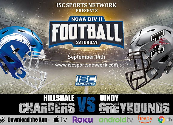 9/14/19 Hillsdale at UIndy - NCAA Div II College Football