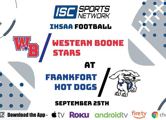 9/25/2020 Western Boone at Frankfort - IHSAA FB