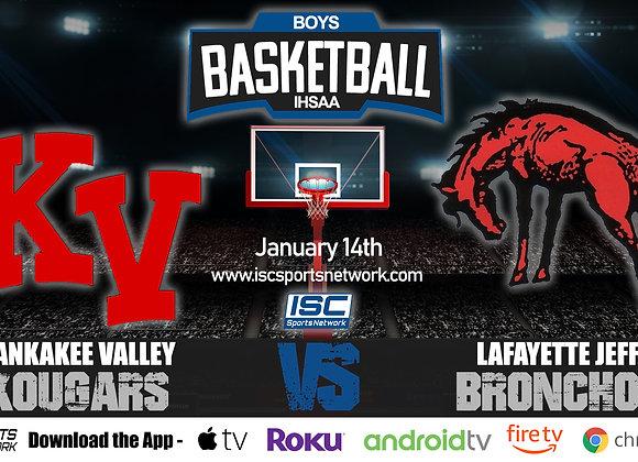 1/14/20 Kankakee Valley at Lafayette Jeff – IHSAA Boys Basketball