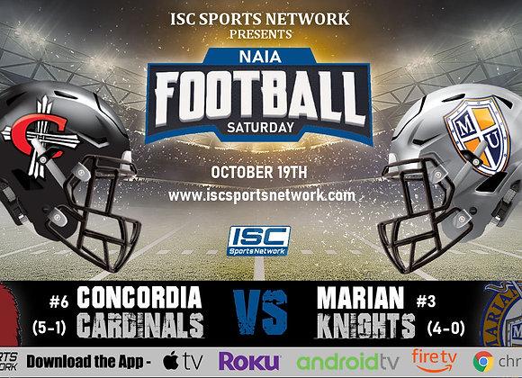 10/19/19 Concordia vs Marian - NAIA College Football