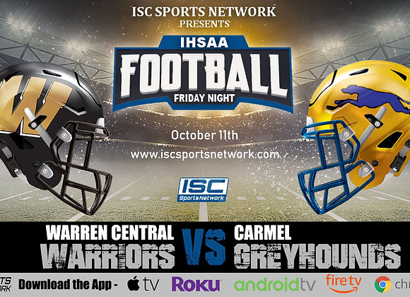 10/11/19 Warren Central vs Carmel - IHSAA Football