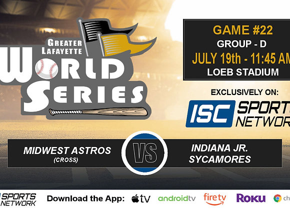 GM22 - Midwest Astros vs IN Jr. Sycamores - 2019 GLWS