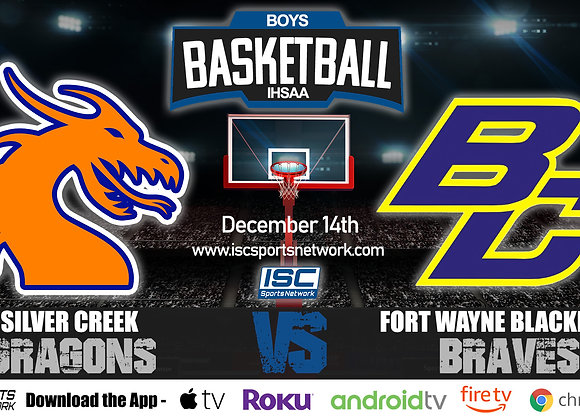 12/14/20 Silver Creek vs Fort Wayne Blackhawk - IHSAA Boys Basketball
