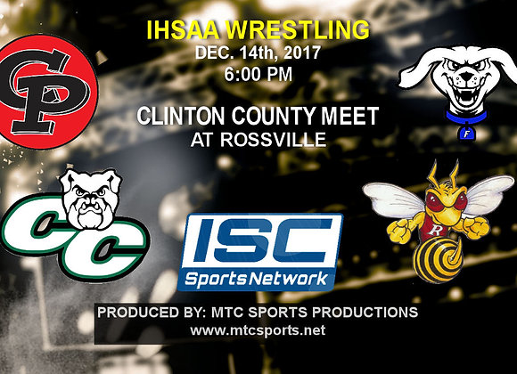 12/14/17 Clinton Cty Wrestling Meet at Rossville