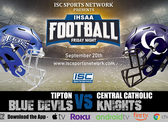 9/20/19 Tipton at Central Catholic - IHSAA Football