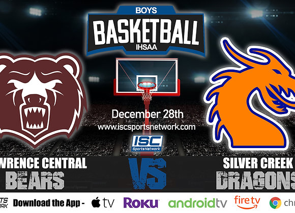 12/28/19 Lawrence Central vs Silver Creek - IHSAA Boys Basketball