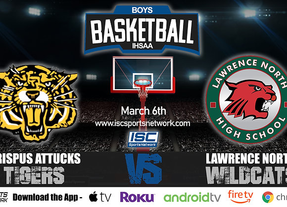 3/6/2020 Indianapolis Attucks vs Lawrence North - IHSAA Boys Basketball
